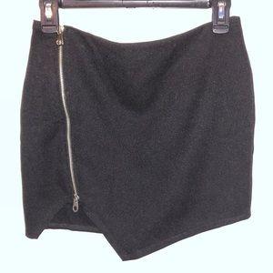 Black Mini-Skirt w/ Front Zipper